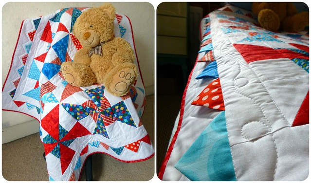 Pinwheels and Prairies Cot Quilt