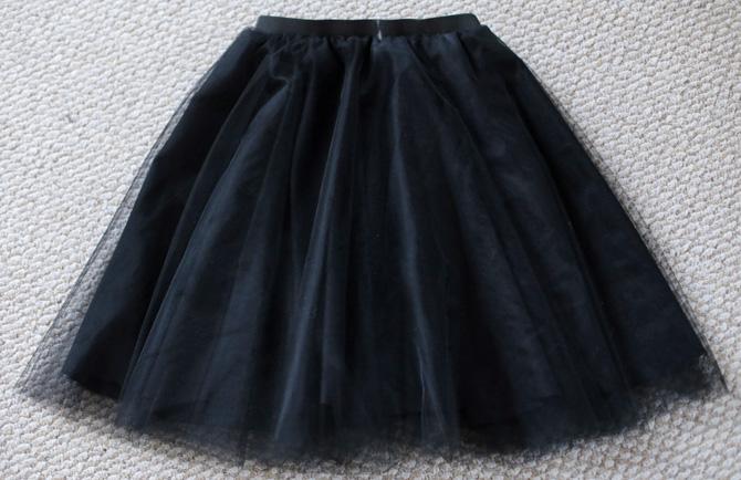 tulle skirt elastic waist DIY5