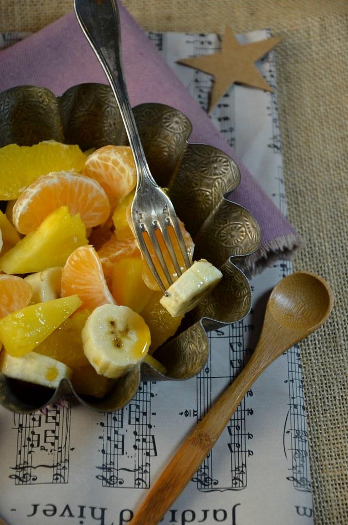 Salade de fruits d'hiver au sirop d'érable recette