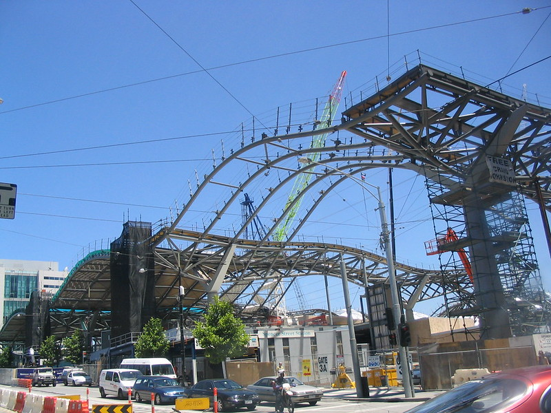 Southern Cross Station under construction, December 2004