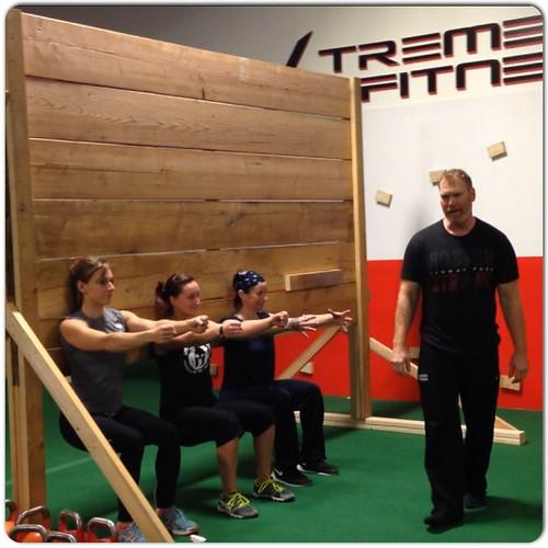Wall Sit Squat