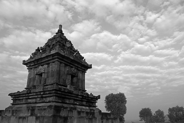Barong, The Temple - b/w