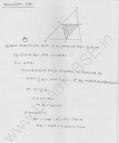 RD Sharma Class 9 Solutions Chapter 14 Quadrilaterals Ex 14.4 7
