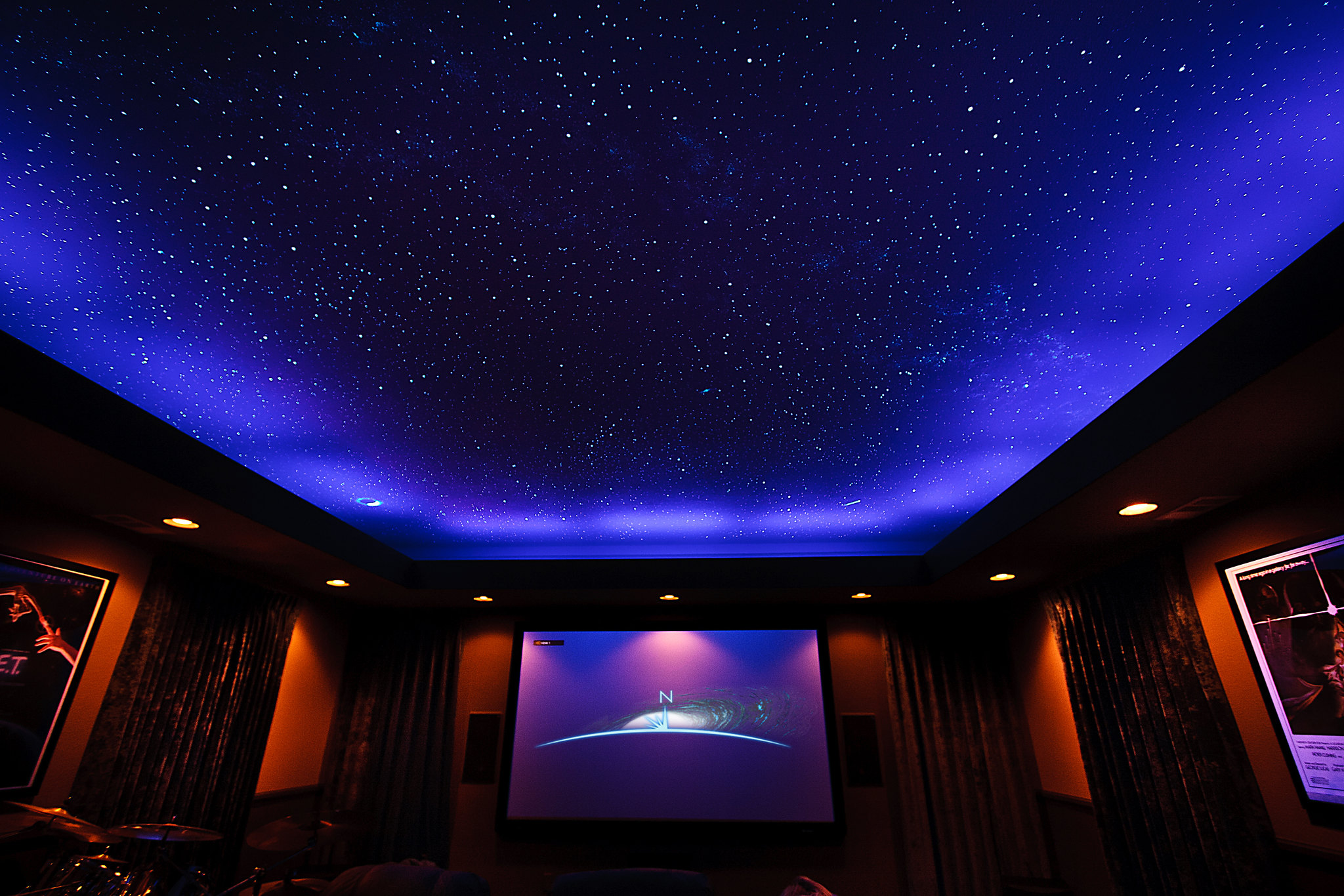 Captivating Star Ceilings... Painted Or Fiber Optics?   AVS Forum | Home Theater  Discussions And Reviews