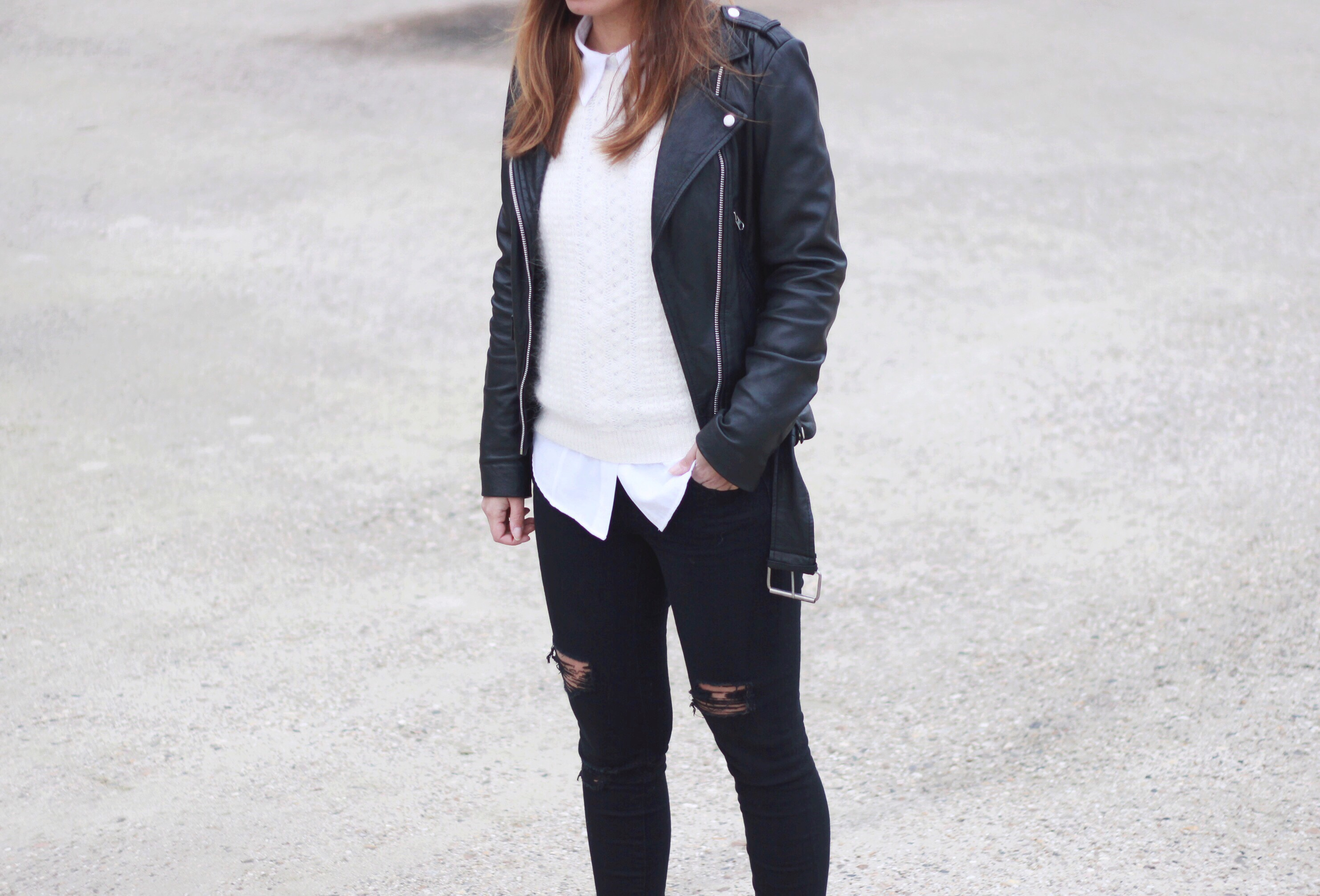 Simplicity, monochrome, leather, look, outfit, inspiration