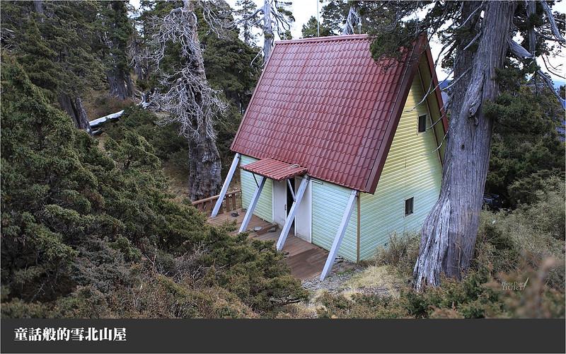 童話般的雪北山屋