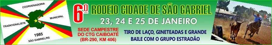 Banner 6º Rodeio Cidade de São Gabriel