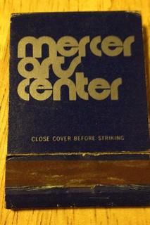Mercer Arts Center Match Book (Tony Mann Collection)