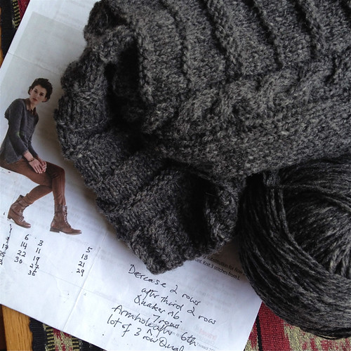 Knitting - grey jumper