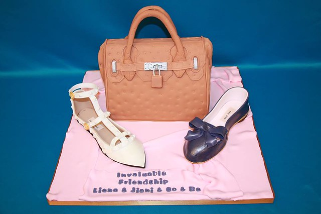 Hermes Bag, Miu Miu and Valentino Shoes by Shushma Leidig of SK Cakes