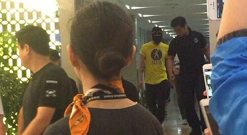 BIGBANG lArrival Shenzhen from Seoul 2015-08-07 011