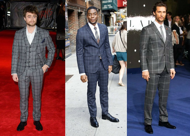men's-Windowpane-suit,Gucci navy windowpane peak lapel two button Monaco suit, checked suiting, checked tailoring suiting, check pattern suit, checkerboard prints, checkerboard prints suits, plaid suit, plaid tailored suit, checked tailored suit, tartan suit, tartan tailored suit, plaid three piece suit, Alexander McQueen suit