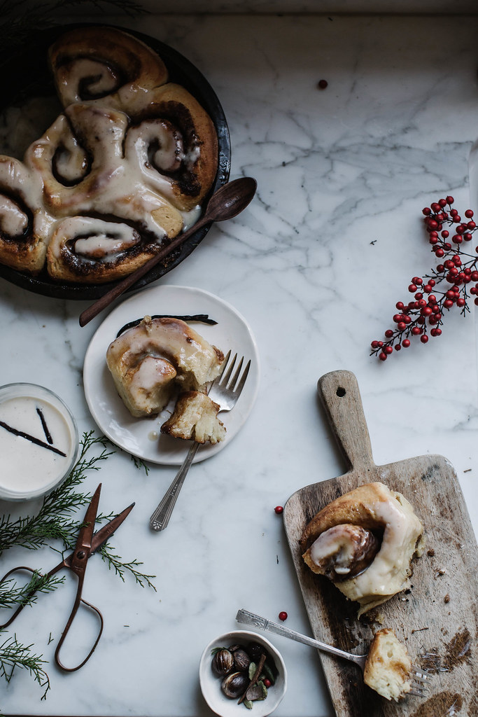 soft & fluffy eggnog brown butter rolls