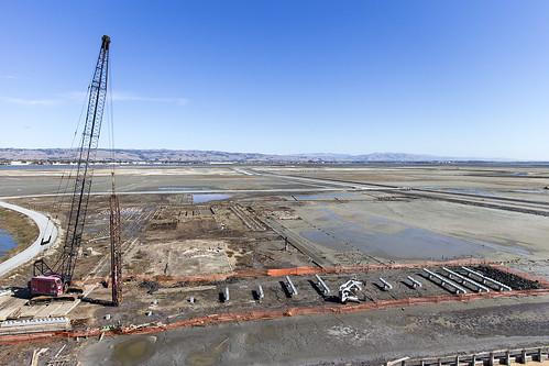 Construction at the Oliver SaltWorks site