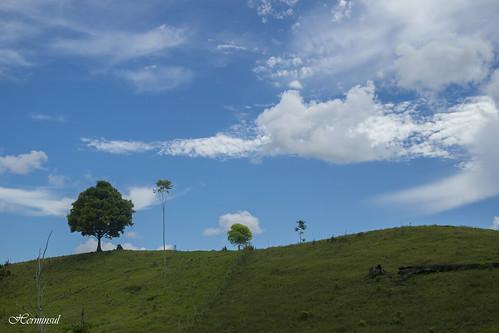 blue sky mountain landscape colombia paisaje putumayo