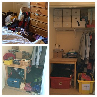 Before the 4 box declutter challenge and after. That's better.
