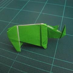การพับกระดาษเป็นรูปแรด (Origami Rhino) 031