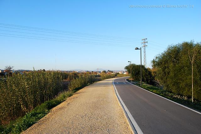 Paseo por la mota del río Segura, Murcia