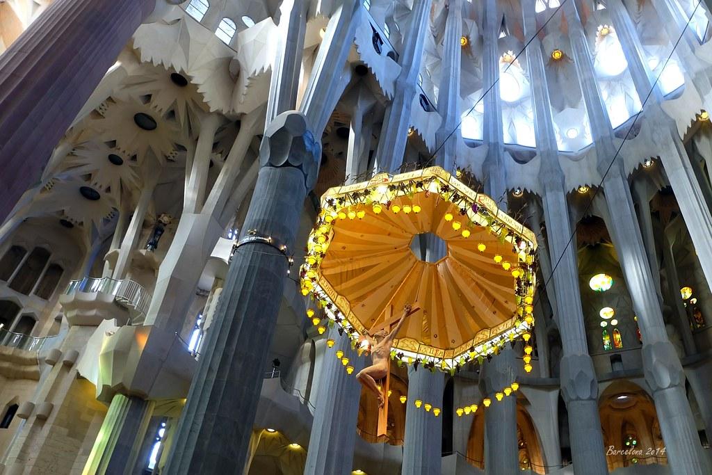 Barcelona day_2, Inside Basílica i Temple Expiatori de la Sagrada Família