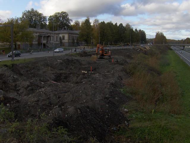 Hämeenlinnan moottoritiekate ja Goodman-kauppakeskus: Työmaatilanne 9.10.2011 - kuva 4