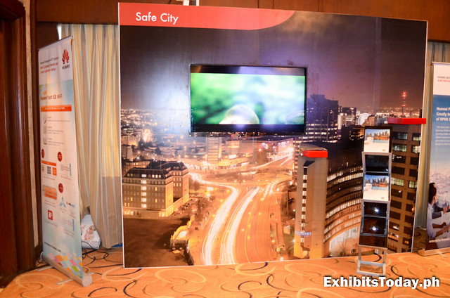 Huawei Safe City Exhibit Wall Panel