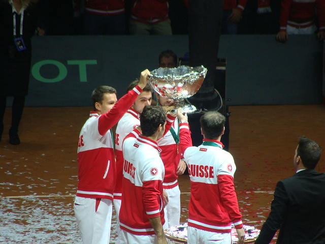 Swiss Team with Trophy
