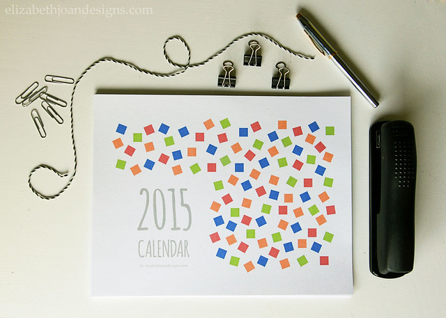 Free 2015 Printable Calendar Color