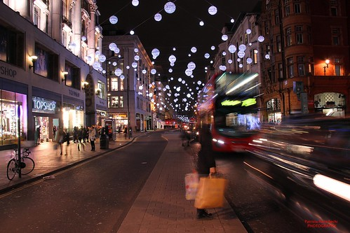 Christmas lights in Oxford Street [Explored, 6th November 2014]