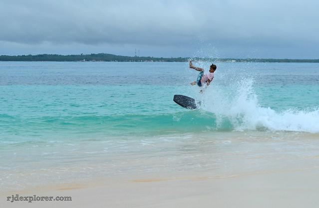 siargao island skimboarding daku island