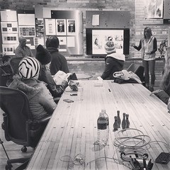 The Creative team presenting to a class from @ambrosemakery this afternoon.