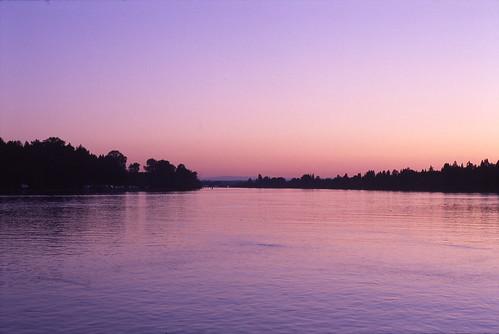 dusk on the Fraser