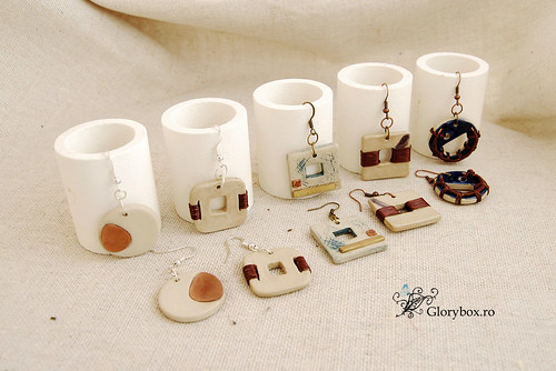 Cercei ceramica + metal