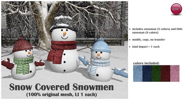 Snow Covered Snowmen