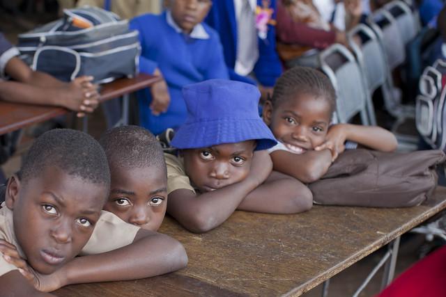 Primary school children like the ones pictured here in Zimbabwe's capital Harare. Credit Jeffrey Moyo IPS.
