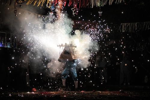 Los tradicionales toritos son esperados por los residentes de Guajitos.