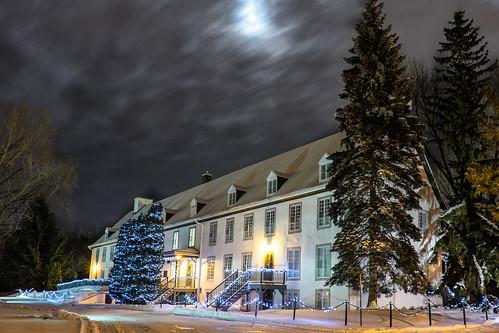 "christmas xmas blue winter moon snow building castle night clouds landscape lights holidays quebec ornaments ""long ""the night"" city"" exposure"" maizerets sky"" ""dark ""quebec ""domaine maizerets"""