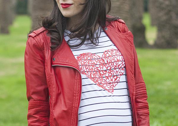 בלוג אופנה ישראלי, אפונה בלוג אופנה, ג'קט עור אדום, חולצת פסים, israeli fashion blog, stripe shirt, red leather jacket