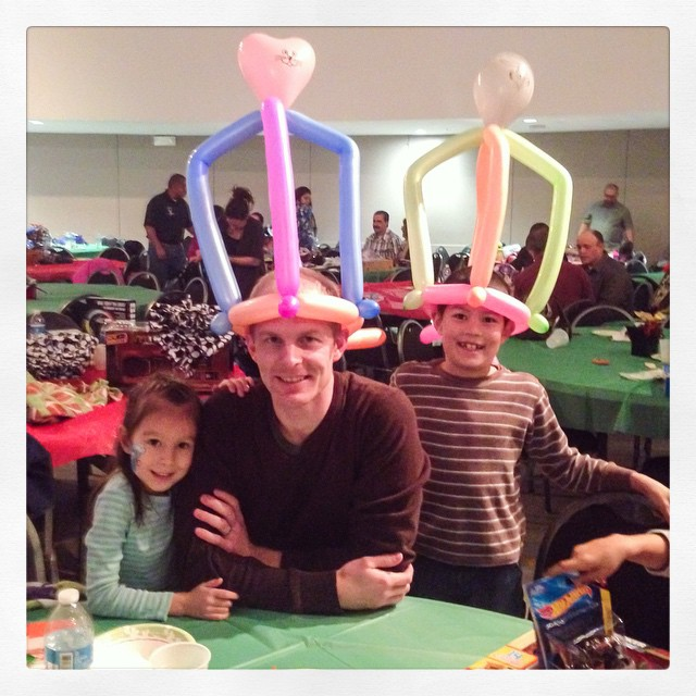 Annual foster care Christmas party! #Santa #clowns #crafts #BestPartyForKids