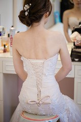 lace, bride, bridal clothing, neck, textile, gown, clothing, wedding dress, dress,