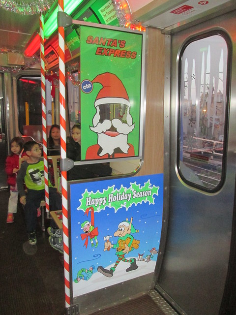 Inside the Yellow Line Holiday Train - Photo faces