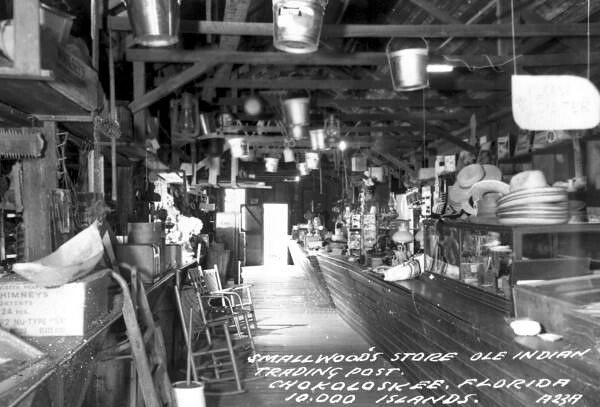 Interior view of Smallwood's store - Chokoloskee
