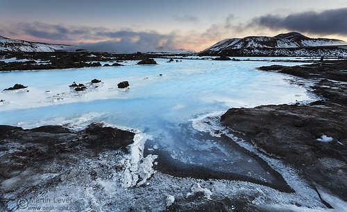 sunset ice water iceland spa geothermal bluelagoon