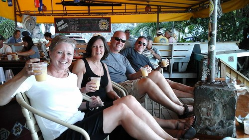 Laura, Suzy, Fred & Kevin enjoying Painkillers at happy hour