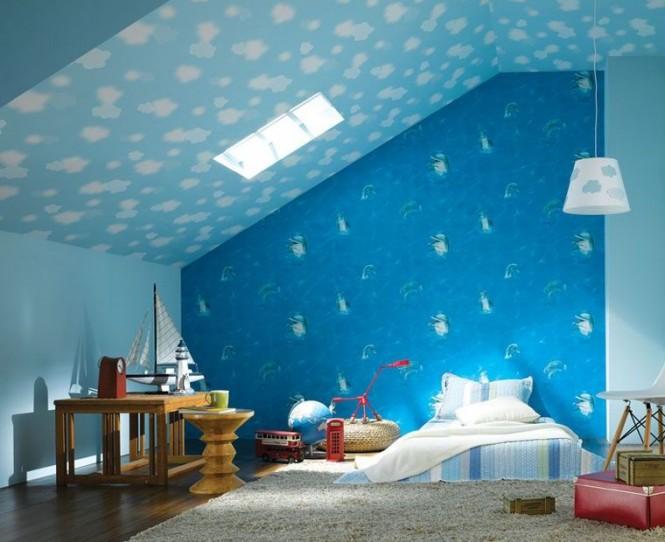 Giấy dán tường siêu xinh cho nội thất phòng bé