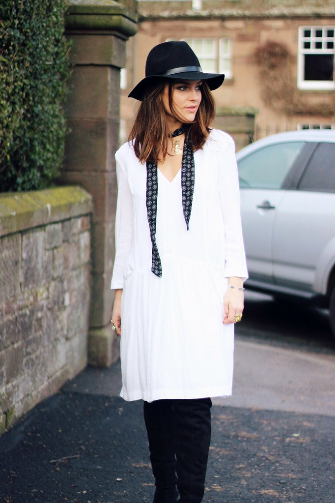 Zara white sale shirt dress 8