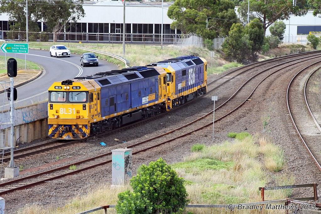 BL31-8136 with D963V down LE to Western Victoria at Nth Geelong (15/1/2015) by Bradley Matthews
