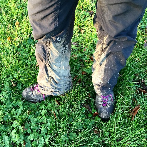 Walking kit essentials: gaiters, which I own and always remember to wear when I need it most.