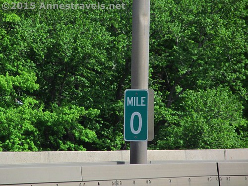Mile Zero on the Pennsylvania / New Jersey border along I-80, Delaware Water Gap National Recreation Area, Pennsylvania