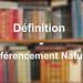 Définition référencement naturel
