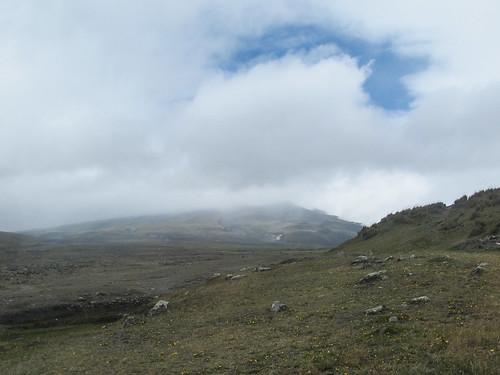 Le Parc National Cotopaxi: le volcan Cotopaxi (ce qu'on a réussi à voir)